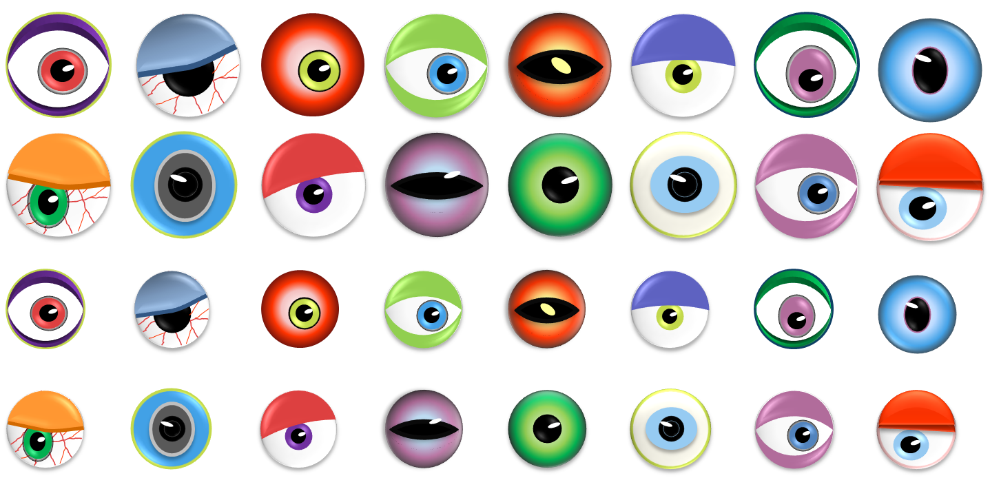 Eyeball clipart pretty eye 4 clipart Life of MonsterEyes