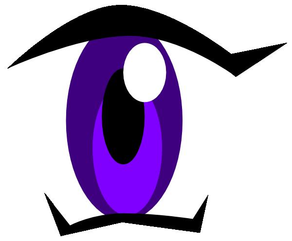 Eyeball clipart purple Clip Clip vector Manga Clker