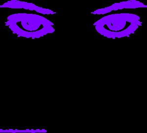 Eyeball clipart purple Clip Clip vector Purple Clker