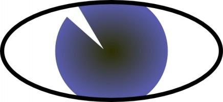 Eyeball clipart purple White Eyeball and image art