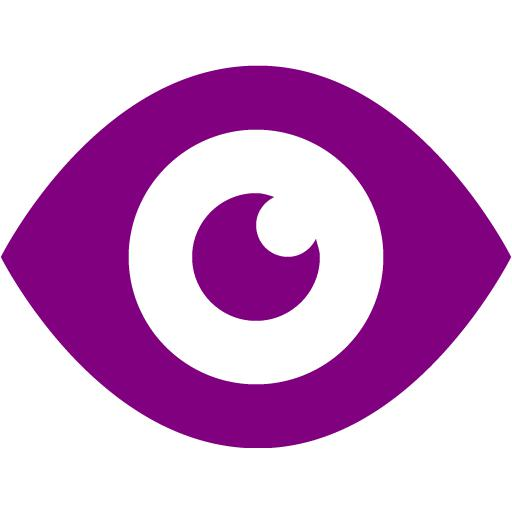 Eyeball clipart purple 2 icons Purple purple Free