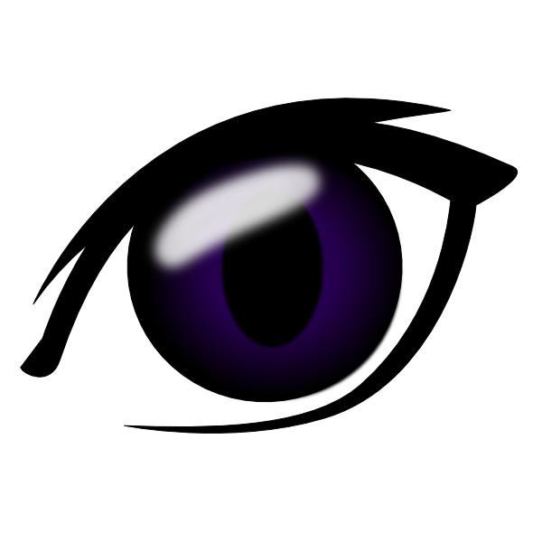Eyeball clipart purple Clip Clip vector Anime Clker