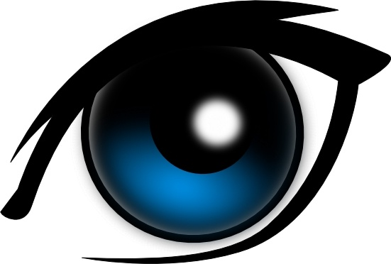 Blue Eyes clipart realistic For  art Eye Vector