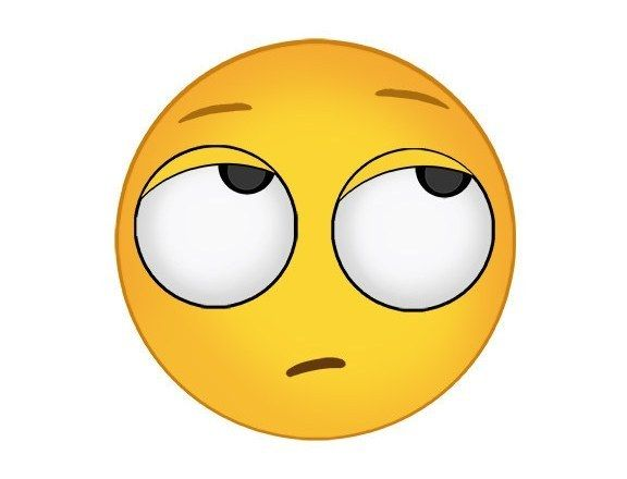 Eyeball clipart rolling eyes Eye clipart emoji rolling Iphone