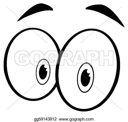 Eyeball clipart sad eye Pair Cartoon Outlined Of ·