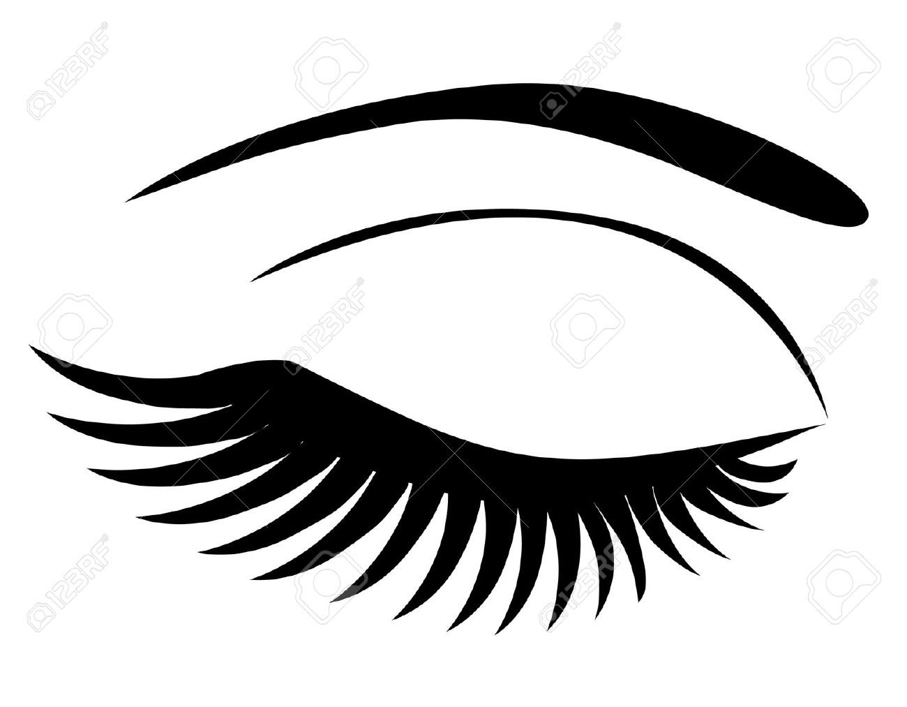 Eyelash clipart  clipart with ClipartFest Eyes