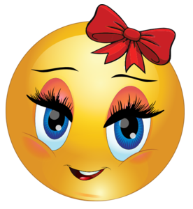 Eyelash clipart animated  Bow Smiley Red