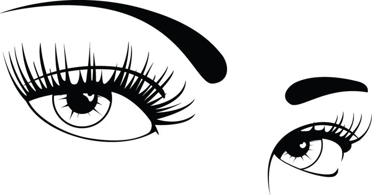Amd clipart eye Collection eyelashes black clipart and