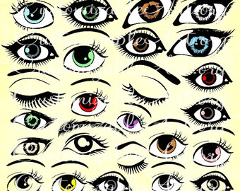 Brown Eyes clipart big eye Right Eye Art Eye Left