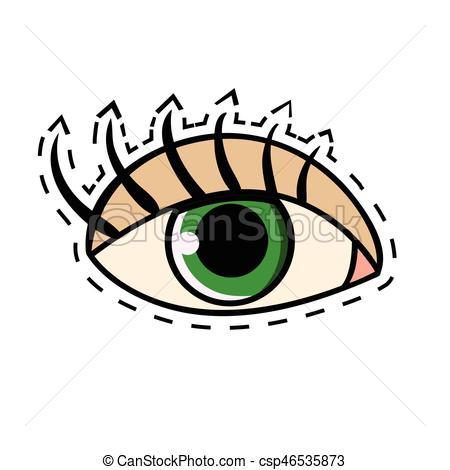Eyelash clipart cartoon female With long csp46535873 eye Vectors
