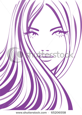 Eyelash clipart cartoon female Of a Beautiful  Picture