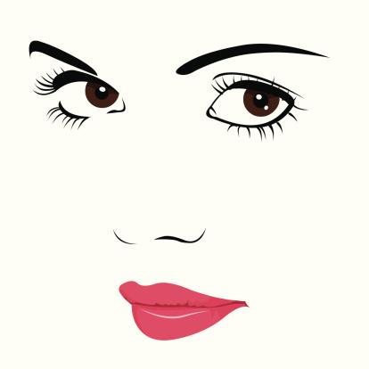 Eyelash clipart cute Shadow Art Face Vector Vector