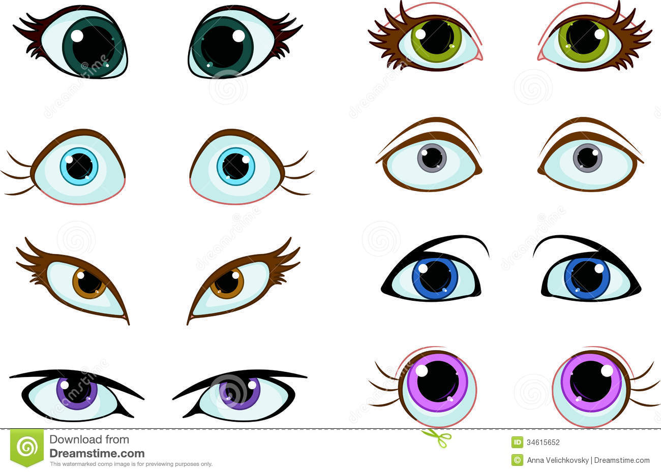 Blue Eyes clipart worried eye  vector 49 this and