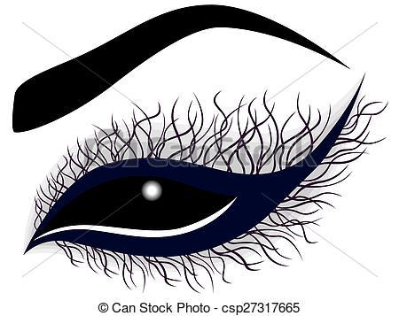 Eyelash clipart drawn Female Abstract female eye curling