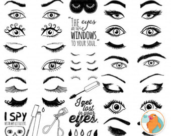 Eyelash clipart eye makeup Clip Design Graphic Images Trendy