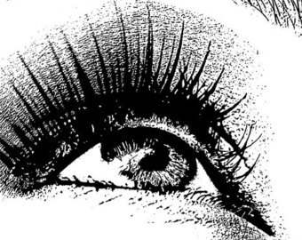 Eyelash clipart eye makeup Download black printable looking and