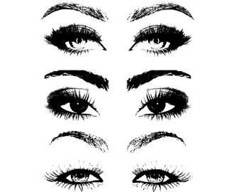 Eyelash clipart eye makeup Stamps Art Clip Clip Eyes