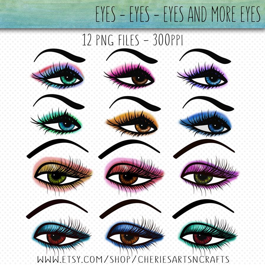 Eyelash clipart eye makeup Eye Make Graphics Art Up