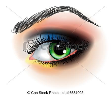 Eyelash clipart eye makeup Up csp16681003 illustration up Vector