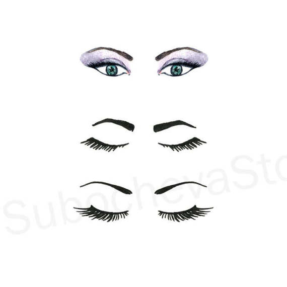 Eyelash clipart eyebrow Woman Clip Eyelashes a This