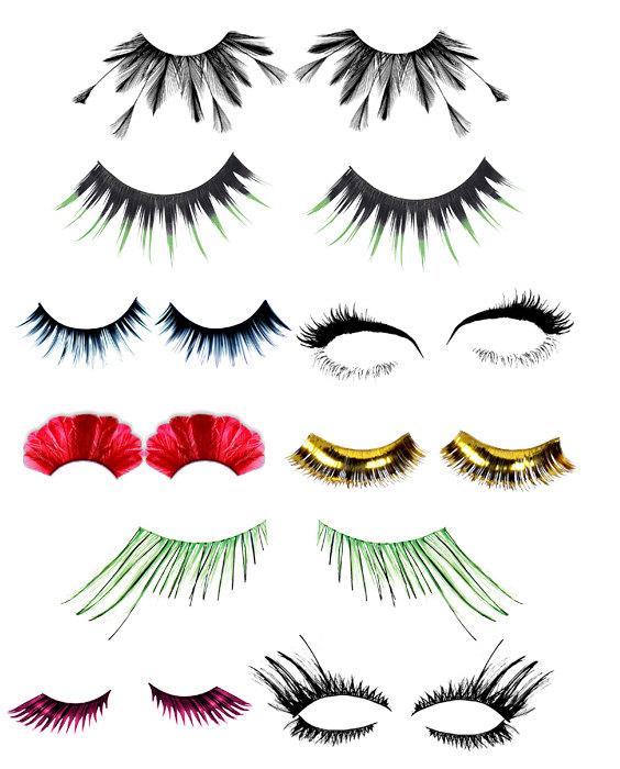 Eyelash clipart false eyelash Beauty clipart lash art eyelashes