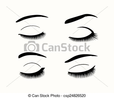 Pice clipart eyebrow Eyelashes Vector of and eyelashes
