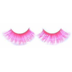 Pink Eyes clipart long eyelash Hot pink lashes Polyvore Eyelashes