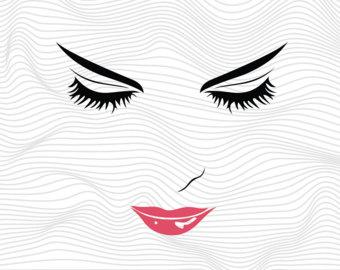 Lips clipart eyelash Cricut Svg Face Svg Monogram