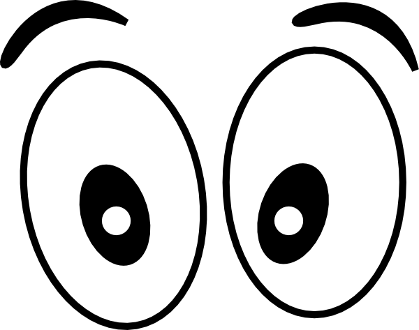 Comic clipart eye Clip and Black White Simple
