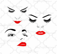 Eyelash clipart sophisticated woman SVG Face Eyelashes Lashes File