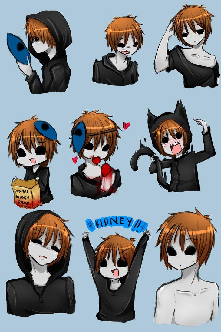 Eyeless Jack clipart funny Expression~! by IkaNe96 Jack