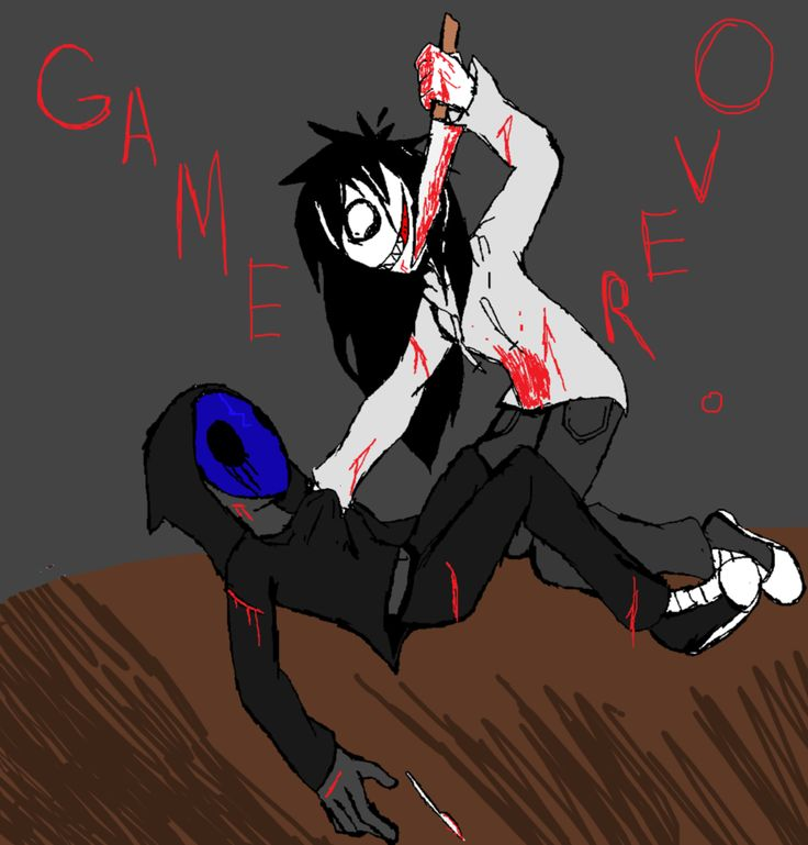 Eyeless Jack clipart the accident And images Jeff on Creepypasta