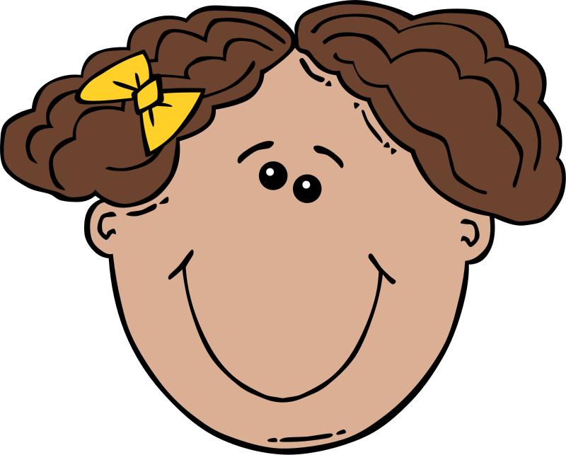 Face clipart On Clip Clip Art Girl