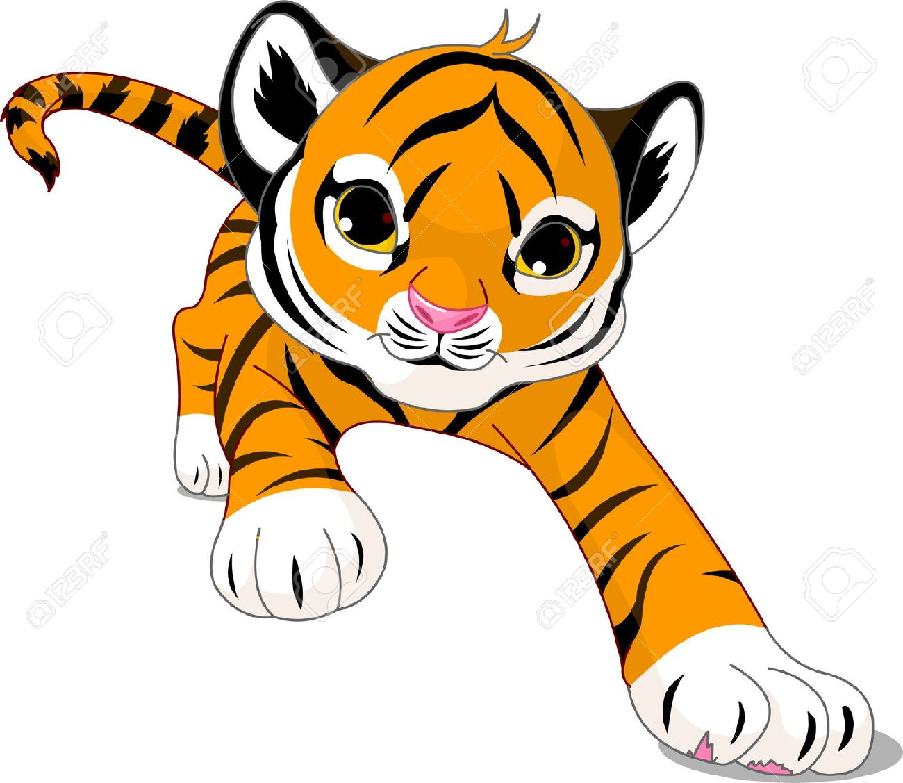 Tiger clipart little #1