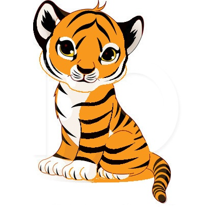 Tiger clipart baby boy #1