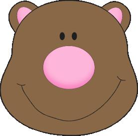 Bear clipart nose Bear Clip Face Art Bear