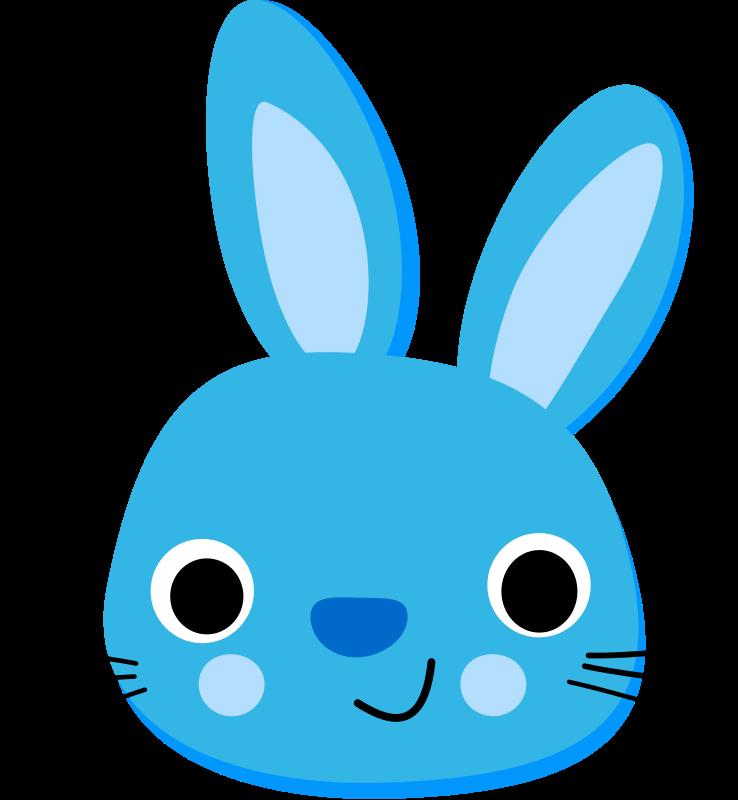 Blue clipart easter bunny  clip art org Animals