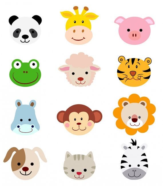 Animal clipart for kid png Animal Dog Clipart Faces Animal