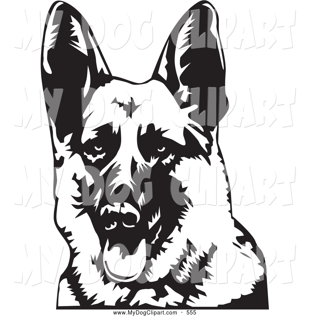 German Shepherd clipart German Out His with of