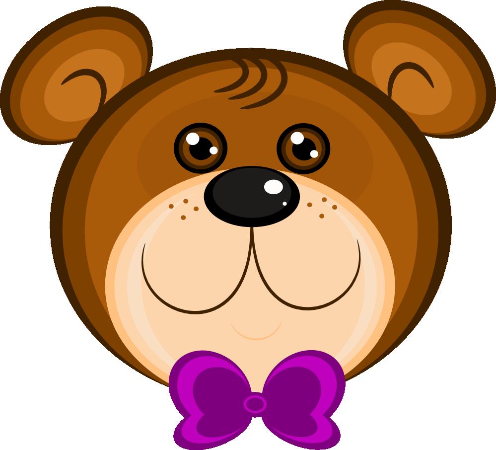 Teddy clipart head #3