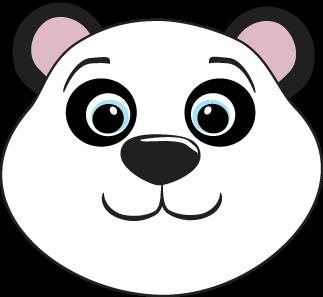 Bear clipart nose Bear Clip Bear Art Panda