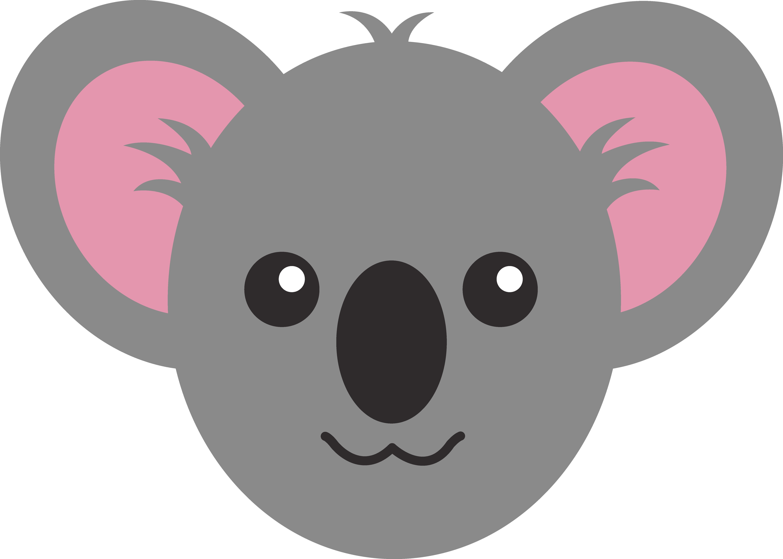 Wildlife clipart cute koala Face Koala Cute Cute Free
