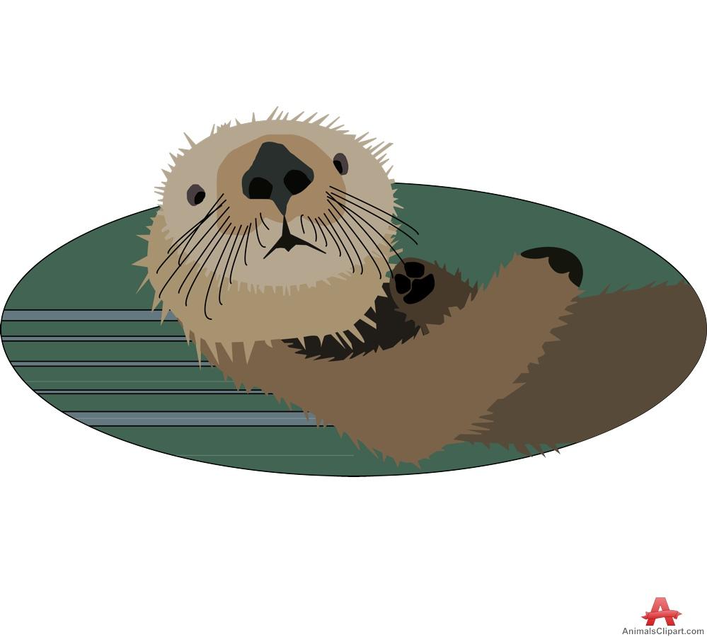 Otter clipart sea otter Of Design Face Face Otter