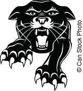 Black Panther clipart vector Mean panther; Black Black An