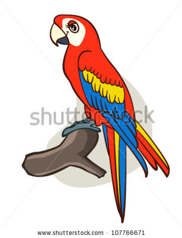 Parrot clipart tree drawing Art parrot Search Parrot Cartoon