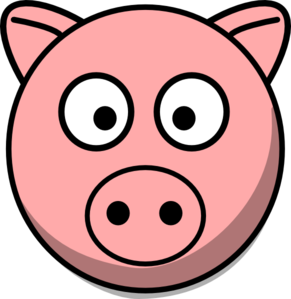 Simple clipart pig #7