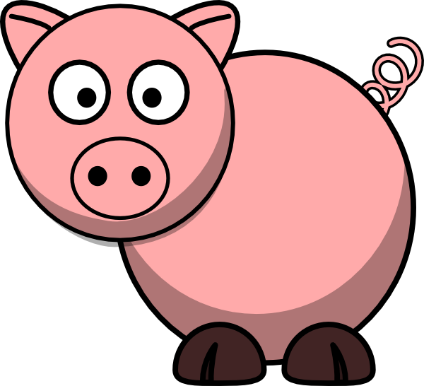 Simple clipart pig #1