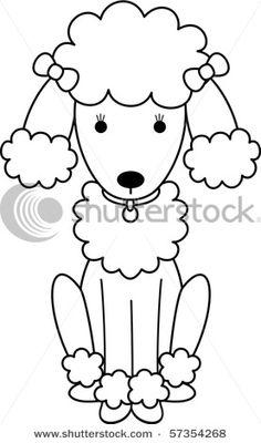Drawn poodle themed Black White SVG Poodle Art