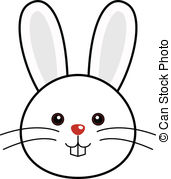 Drawn rabbid face Of Graphics Vector faces Cute