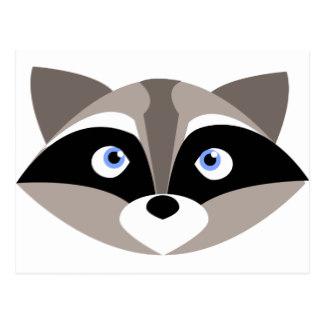 Raccoon clipart face Raccoon Zazzle Postcard Cute Raccoon